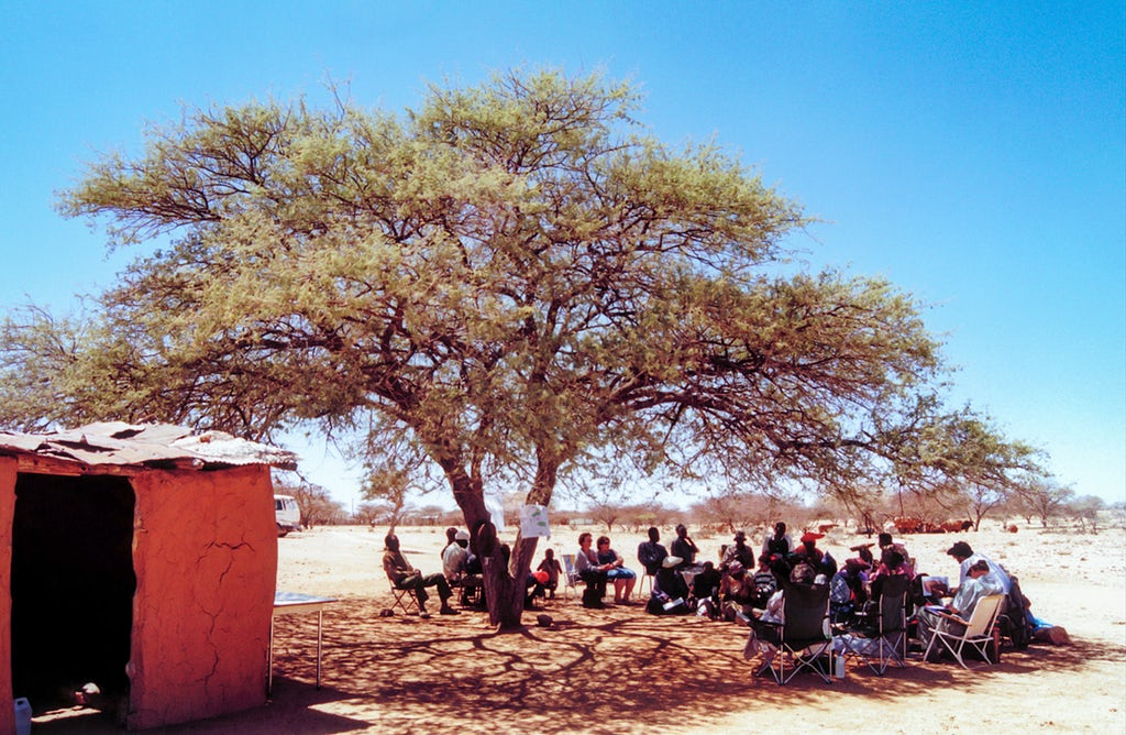 The first reflection meeting of Cluster 81 in Ondjombo, Namibia, September 2001