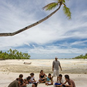 Baha'i group studying spiritual empowerment in South Tarawa, Kiribati