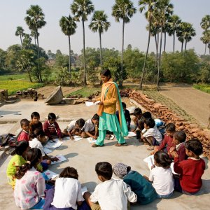 Baha'i children's class in Biharsharif, India