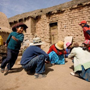 Baha'i children's class in Machacamarca, Bolivia