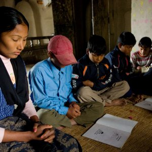 Baha'i junior youth study group in South Kanchanpur, Nepal