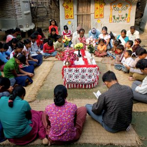 Baha'i devotional gathering in Morang-Sunsari, Nepal
