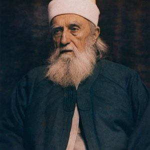 Color portrait of 'Abdu'l-Baha in Paris, France, October 1911