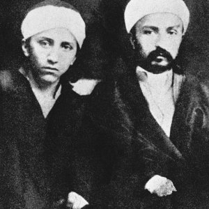 'Abdu'l-Baha with His brother Mirza Mihdi, The Purest Branch