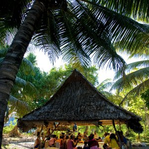 A Baha'i community gathering in South Tarawa, Kiribati
