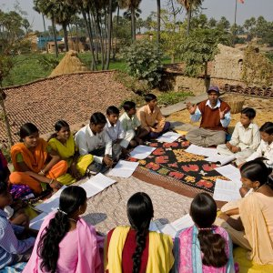 Baha'i study circle in Biharsharif, India